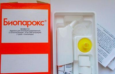 Як застосовувати Биопарокс при лікуванні гаймориту